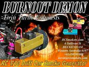 Rc Drift Car Smoke Generator Burnout Demon Twin Jet Turbo Exhaust