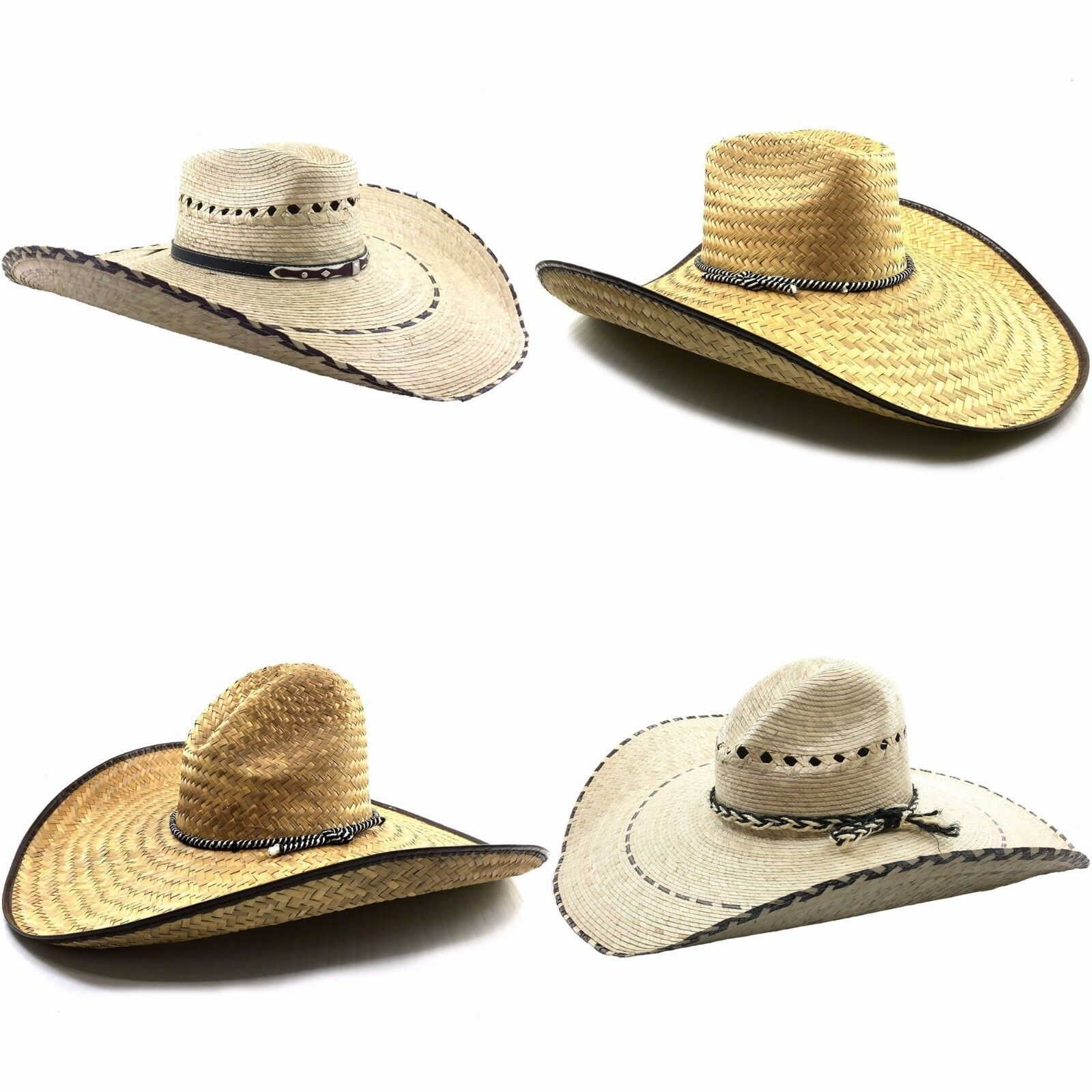 Details about Milani Guacho Cowboy Ranch Large Straw Hat - NEW 20
