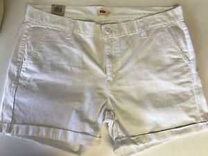 White Pink Size 6 8 10 12 14 16 New $44.50 Levi/'s Women/'s Classic Chino Shorts