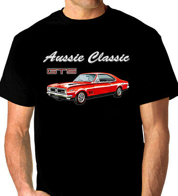 HOLDEN HQ COUPE GTS  MONARO QUALITY  WHITE TSHIRT 9 CAR COLOURS BIG  FIT