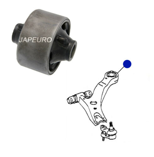 FOR TOYOTA CAMRY 01-06 FRONT LOWER WISHBONE TRACK CONTROL ARM BUSH BUSHES x2