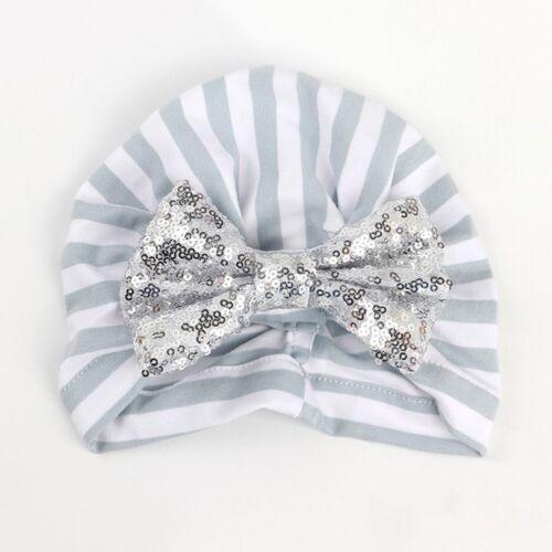 Striped Baby Hat Cotton Soft Turban Knot Summer Hat Newborn Cap For Baby Girls