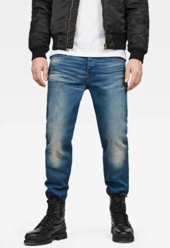 G-Star Raw 3301 Loose W36 L32 Mens Medium Aged Blue Firro Stretch Denim Jeans