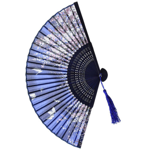 Spanish Vintage Style Dance Party Wedding Lace Silk Folding Hand Held Flower Fan