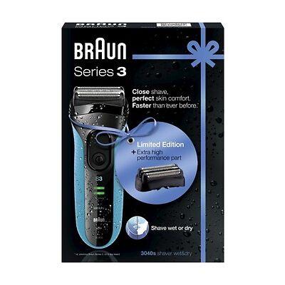 Braun Series 3 Elektrorasierer 3040s Limited Edition mit Scherteil Kombipack 32B