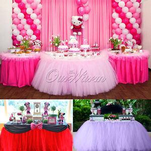 80cm100cm tutu tulle table skirt wedding party birthday baby image is loading 80cm 100cm tutu tulle table skirt wedding party junglespirit Choice Image