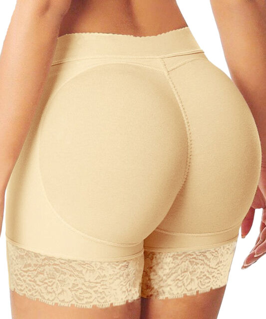Women's Lace Pad Seamless Butt Hip Enhancer Shaper Butt Lifter Panties Underwear