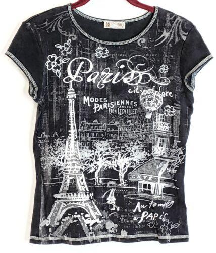 Blue Canyon Women's Sz S Paris City of Love Theme