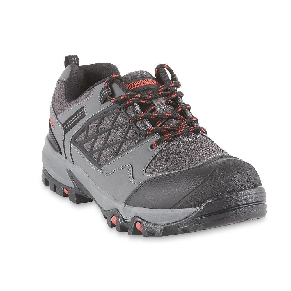 Outdoor Life Men's Hickory Gray Waterproof Hiking Shoe hiker trail lightweight