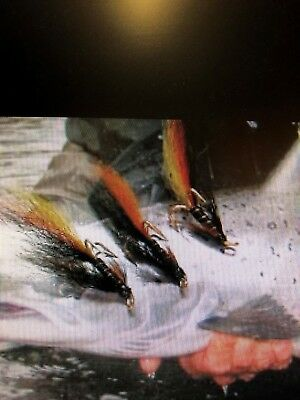 3 V Fly Size 10 Ultimate Gold Munro Killer Double Salmon Flies