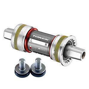 TOKEN-ISO-Square-Taper-Bottom-Bracket-Campagnolo-Italian-111mm-Ti-Axle-Ceramic