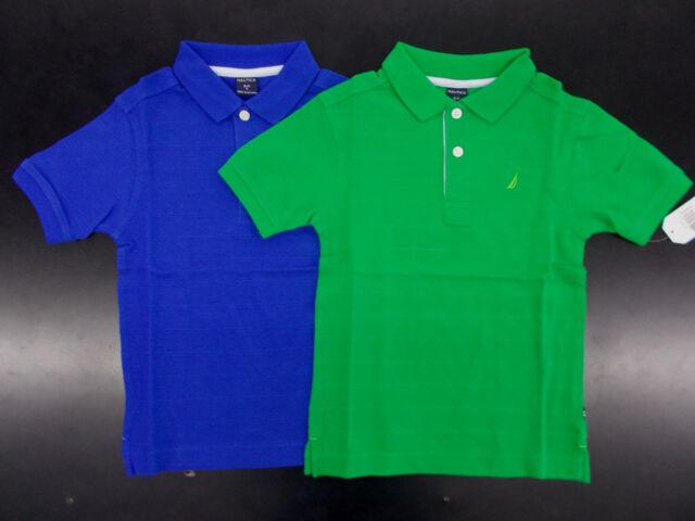 Nautica Boys Short Sleeve Gingham Woven Shirt