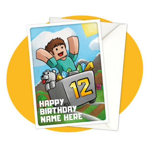 Steve-Minecart-PERSONALISED-BIRTHDAY-CARD-Minecraft-themed-gamer-personalized