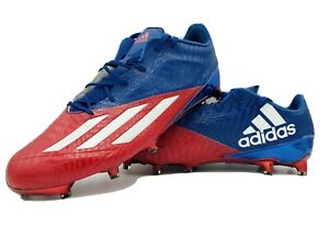 New-Men-039-s-Adidas-Adizero-5-star-5-0-Football-Cleats-Red-Blue-Size-13-5-aq7146