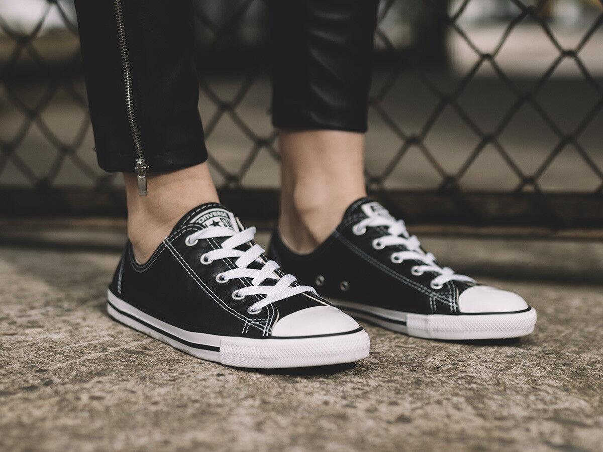 Converse Mujeres Chuck Taylor All Star Dainty Entrenadores Zapatos Negros 555905 C Reino Unido 3