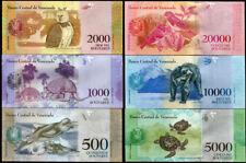 VENEZUELA SET 6 UNC 500 1000 2000 5000 10,000 20,000 BOLIVAR 2016 / 2017 P NEW