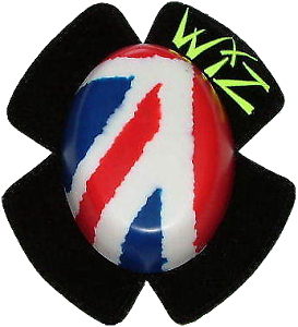 1 Set Union Jack Wiz Knee Sliders