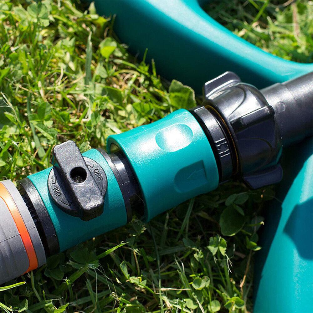 Plastic Quick Hose Connector Garden Watering Shut Off Valve Pipe Adapter