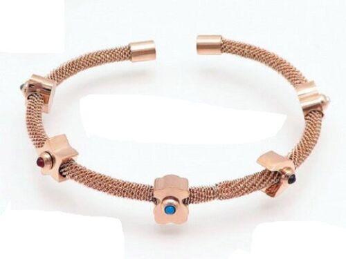 2019 Hot Nouveau en acier inoxydable incrusté turquoise Ours Bracelets