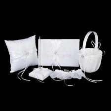 Wedding Guest Book and Pen Set ,Ring Bearer Pillow,Flower Girl Basket,Garter