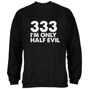 Black Half Sweatshirt Evil Adult 333 Halloween qT6fpSf