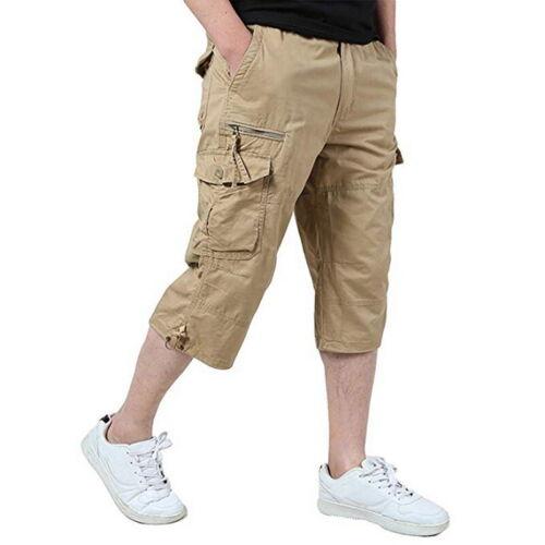 Mode Männer Cargo Shorts kurze Hose Bermuda Short Cargoshort 3//4 Hose Sommer H//J
