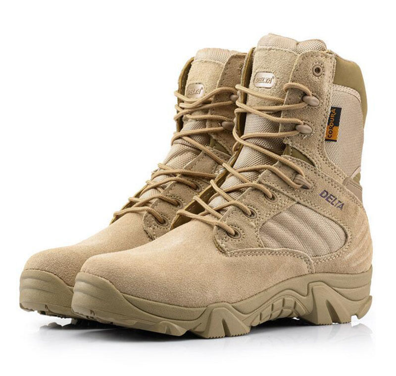 New Mens Military Tactical Ankle Boots Cordura Desert Combat Army Hiking shoes