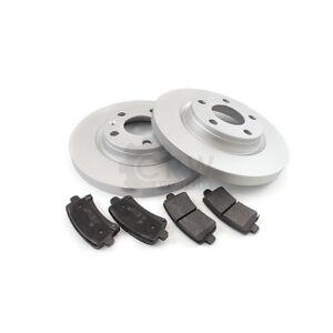 Brake Discs Pads Rear For Nissan Primera Combi WP12 1.8 2.0