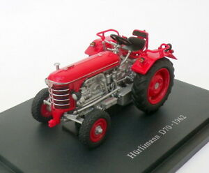 Hachette-Tractor-de-modelo-de-escala-1-43-HT014-1970-Hurlimann-D70-Rojo
