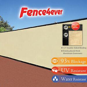 Tan-Beige-4-039-5-039-6-039-8-039-tall-Fence-Windscreen-Privacy-Screen-Shade-Cover-Mesh-Tarp