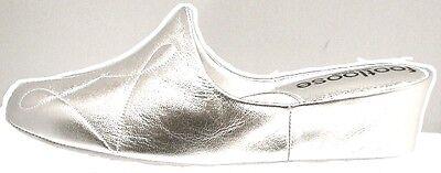 Zapatillas de cuña de cuero español Plata comodidad amortiguada móvil por Relax