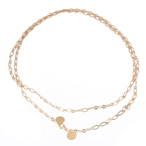 Metal Plate Belts for Women Belt Gold Silver Waist Chain Elastic Thin Belts S