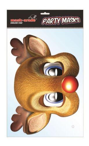 cerf Noël Noël Masque de visage carte de caractère de Rudolph l/'emprunt d/'identité//Déguisements
