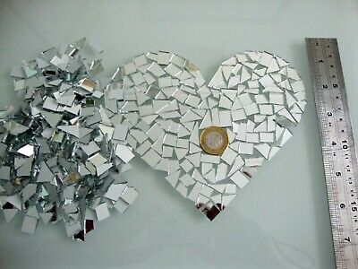 500 Pieces 1 mm Thickness Offcuts Silver Glass Mirror Art/&Craft,