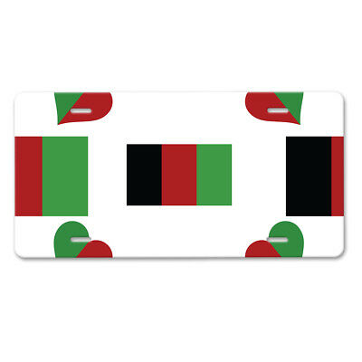 Afghanistan Flag License Plate Tag Vanity Front Aluminum 6 Inch By 12 Inches