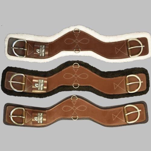 Brown Leather NEW Total Saddle Fit Shoulder Relief Cinch Black Fleece Liner