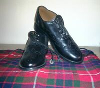 Scottish Ghillie Brogue Shoes With Hose Socks   Formal Full Dress   Geoffrey Cp7