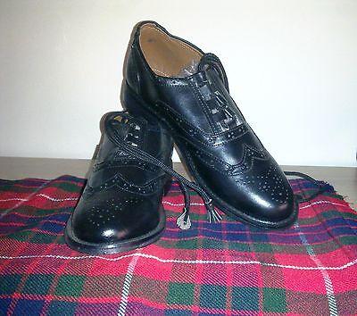 Scottish Ghillie zapato bajo de cuero zapatos Con Manguera calcetines | formal completa Vestido | Geoffrey Cp7