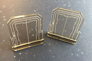Imperial-Assault-compatible-double-sided-acrylic-Door-templates-x-2