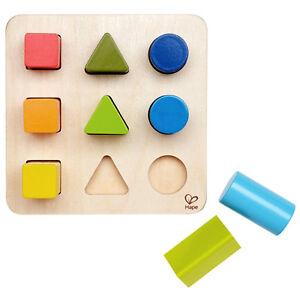 Baby Puzzle Shape Color Wood Building Block Toddler Preschool