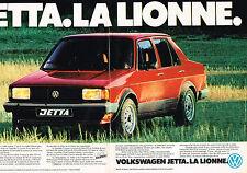 PUBLICITE ADVERTISING 044  1981  VOLKSWAGEN JETTA  LA LIONNE  ( 2 pages)