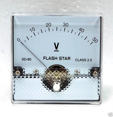 1pc Panel Meter SD-80 80x80mm DC 50V DC50V Class 2.5 SD FlashStar Taiwan