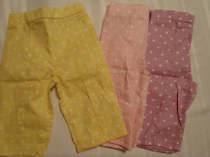 GARANIMALS Girls 3T or 5T Yellow Pink Lavender Polka Dot Capri Choice NWT Cotton