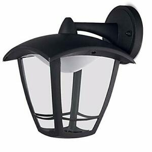 Luceco-LED-Top-Arm-Four-Panel-Coach-Lantern-IP44-Rated-8W-Black