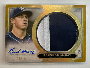 2020 Topps Five Star Brendan McKay Auto Jumbo Patch Rookie SSSP 4/10 AJP-BMC