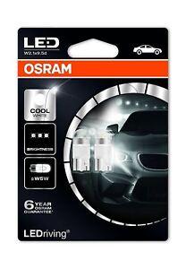 OSRAM-LED-6000K-Cool-White-W5W-501-12V-1W-2850CW-02B-Interior-Retrofit-TWIN