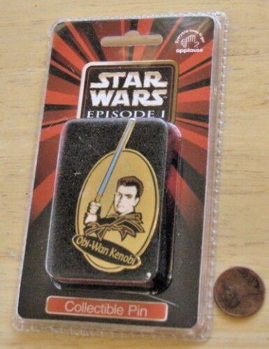 PIN enamel OBI-WAN KENOBI /'99 vintage MOC Phantom Menace Star Wars