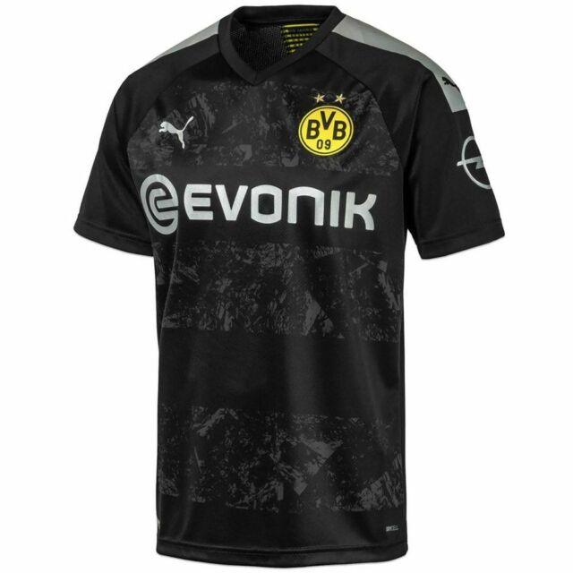 Puma Bvb Borussia Dortmund 2019 2020 Away Soccer Jersey New Black Gray For Sale Online