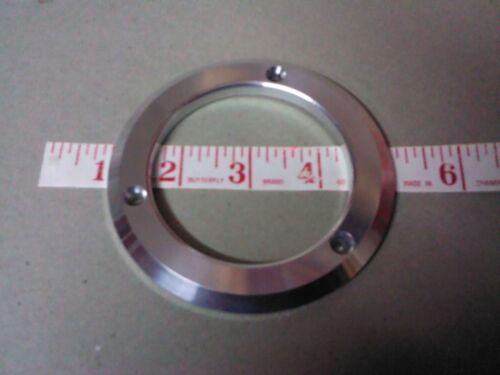 """Polished Aluminum Gauge Bezel 3 Hole Hot Rod Speedo  2 3//4/"""" ID 4/"""" OD"""