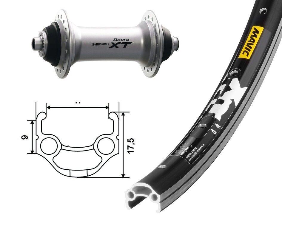Bike-Parts 26″ Rueda Delantera MAVIC XM 117 + Shimano Deore XT ( Qr